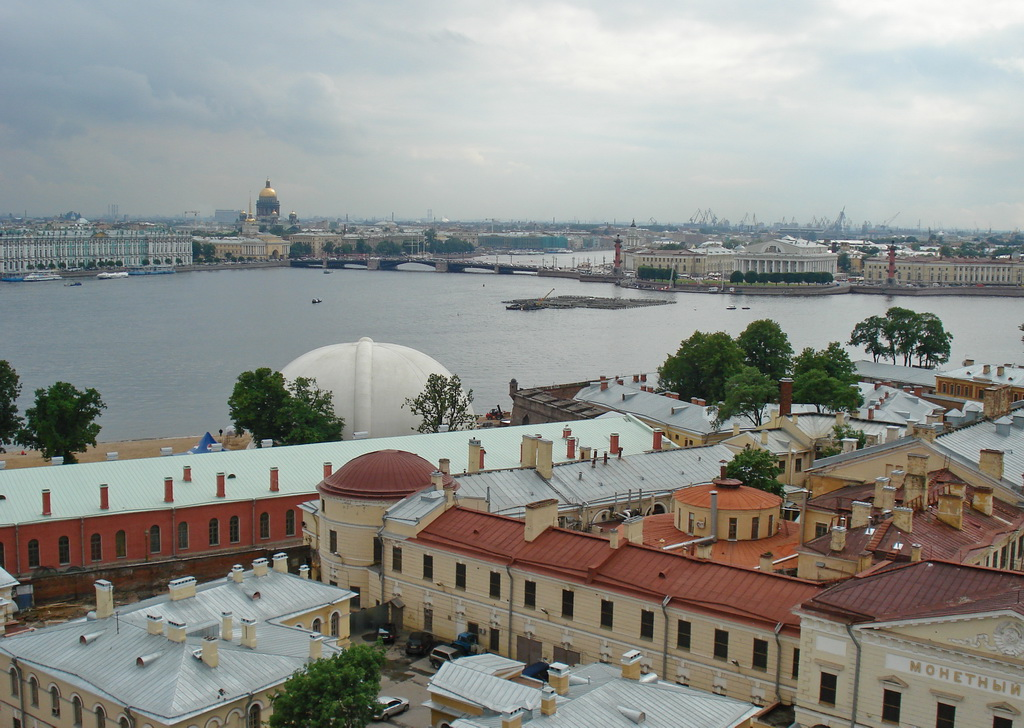 Вид на крепость из Петропавловского собора