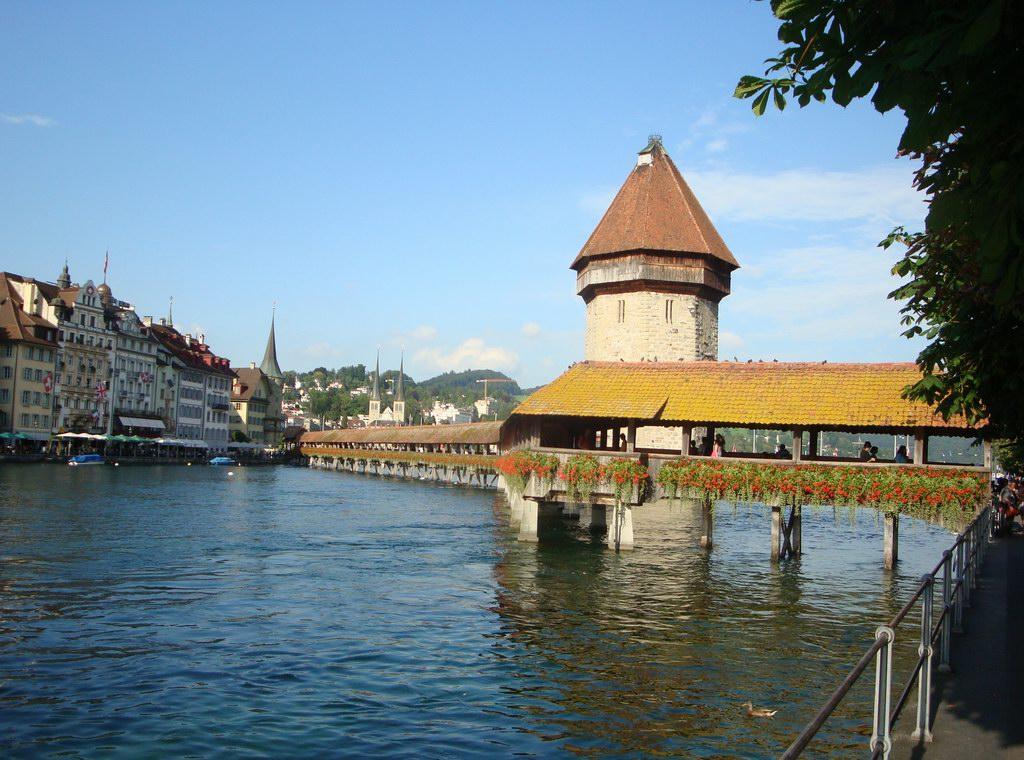 мост у часовни в Люцерне