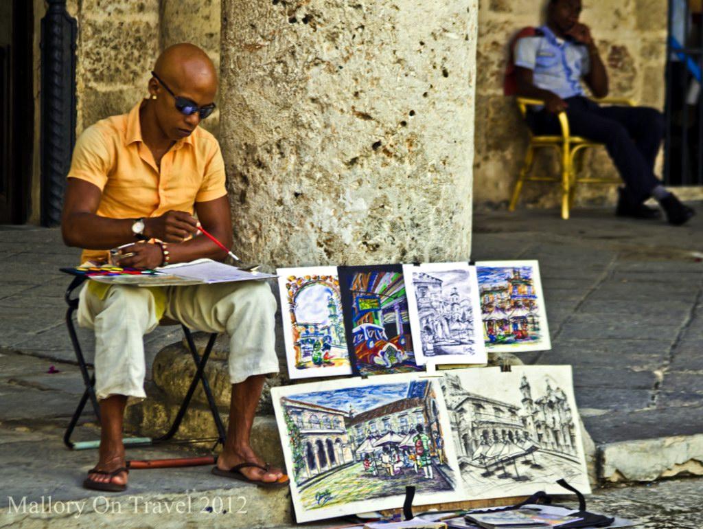 художник на улице