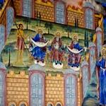 Фрески на стенах монастыря