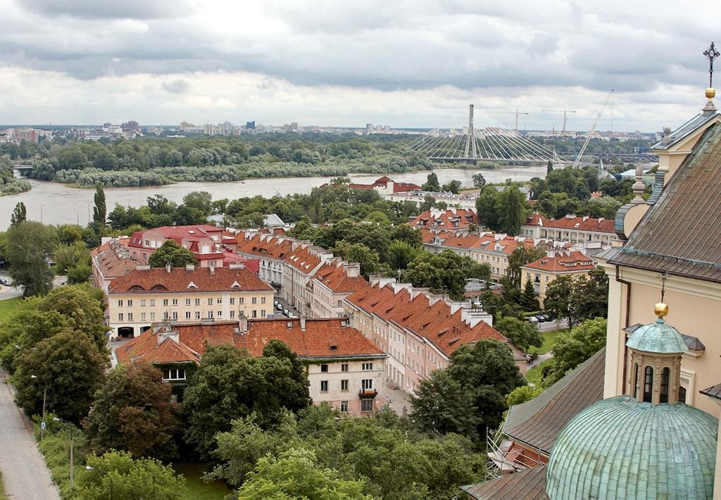 Вид на Вислу и Прагу
