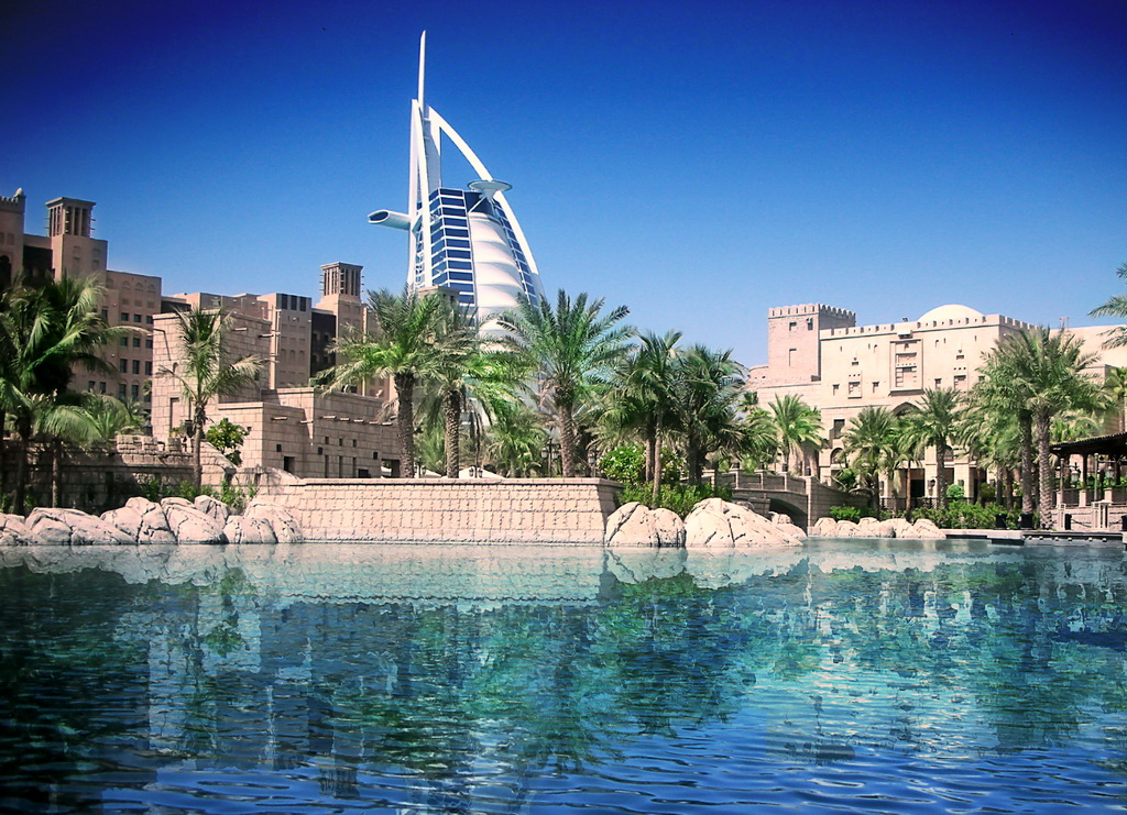 Вид на отель Бурдж эль Араб