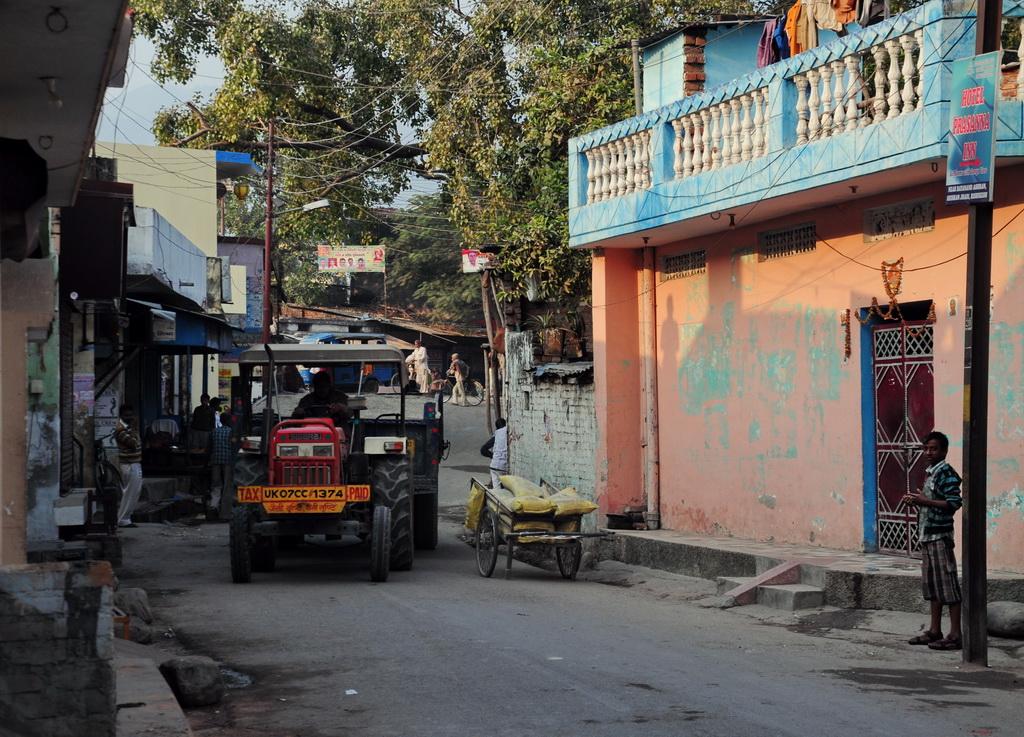 Улица провинциального индийского города